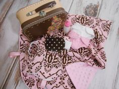 Just Like Mommy   Chic Bitty Baby Suitcase Blanket by LimeSewda