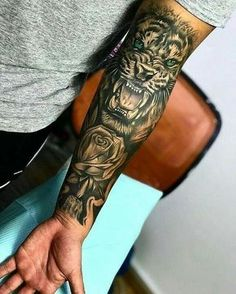 Amazing Lion Tattoo ideas for men tattoos for More Tattoo Id. - Amazing Lion Tattoo ideas for men – tattoos More Tattoo ideas you can find on our Websit - Dope Tattoos, Forarm Tattoos, Forearm Sleeve Tattoos, Best Sleeve Tattoos, Badass Tattoos, Tattoo Sleeve Designs, Body Art Tattoos, Hand Tattoos, Tiger Tattoo Sleeve