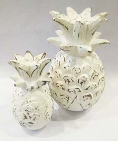 My Island Home - Wooden Pineapples - whitewash