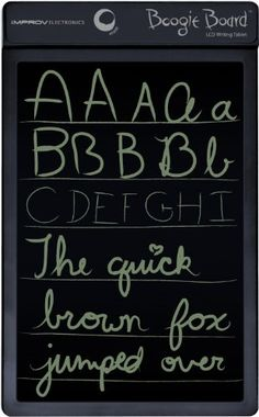 Boogie Board 8.5 Inch LCD Writing Tablet (Black)    So much fun, you won't want to put it down! This is like having a notepad to doodle and write on - in electronic form! This gadget is still at the top of the list, for the second year in a row!  $34.16
