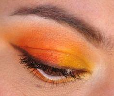 Candy corn inspired eyeshadow.