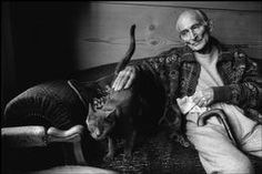 Martine Franck 1999, SWITZERLAND. Canton of Vaud. Rossinière. French painter BALTHUS at home with his cat Mitsuko.