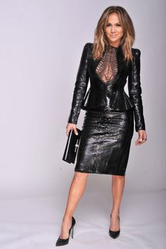 Showing off her killer bod in a black, leather Gucci dress, J.Lo struck a fierce pose at the Chime For Change: The Sound Of Change Live Concert at Twickenham Stadium in London. She later went on to perform at the show. Photo: Getty Editorial