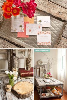 Rustic with a pop of color! Love