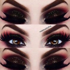 Here is some advice on eye makeup styles for you to try. Every girl loves to pla. - - Here is some advice on eye makeup styles for you to try. Every girl loves to play around with makeup. Let us experiment together! Black Eye Makeup, Eye Makeup Art, Eye Makeup Tips, Cute Makeup, Gorgeous Makeup, Makeup Tools, Makeup Ideas, Makeup Style, Pink Makeup