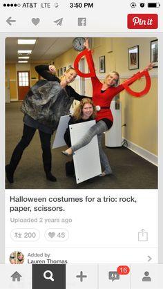 Best Friend Halloween Costumes for Girls Rock, Paper, Scissors Costumes. Best Friend Halloween Costumes for Girls Rock, Paper, Scissors Costumes. Trio Costumes, Friend Costumes, Group Costumes, Cute Costumes, Costumes For 3 People, Costume Ideas, Zombie Costumes, Creative Costumes, Family Costumes