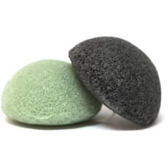 Konjac Facial Sponge Infused With Bamboo Charcoal or Green Tea Vegan... ($7) ❤ liked on Polyvore featuring beauty products, bath & body products, body cleansers, bath & beauty, bath accessories, green and sponges & body brushes