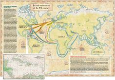 19th Century Royal Navy trade routes