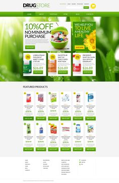 Green and yellow colors are commonly associated with health, active lifestyle, and eco friendly products. Our designer picked out these colors not occasionally. They are simply perfect for a drug s...