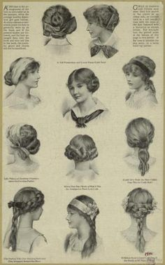 Edwardian hair styles - I would do just about every one of these.
