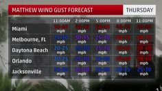 Hourly Wind Gust Forecast
