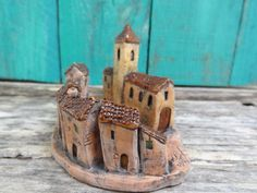 Miniature Medieval village square ceramic by theCherryHeart
