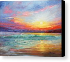 Smile Of The Sunrise Canvas Print by Marie Green.  All canvas prints are professionally printed, assembled, and shipped within 3 - 4 business days and delivered ready-to-hang on your wall. Choose from multiple print sizes, border colors, and canvas materials.