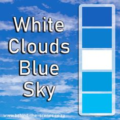The White Clouds, Blue Sky palette has 5 colours which are processed cyan , vivid cerulean , white, true blue and denim. Sky Colour, Blue Colour Palette, Website Color Schemes, Colour Schemes, Blue Clouds, White Clouds, Olympic Colors, Creative Web Design, Falling From The Sky