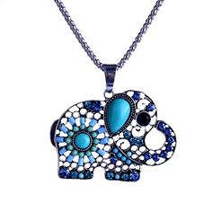 Lureme Pave Crystal and Bead Elephant Silver Tone Pendant Necklace for Women Teen Girls 01001603-1. Material:Alloy + Beads. Quantity: 1 piece. Size: Pendant 35mm*47mm, chain 70cm. Cute and lovely necklace for young girls,perfect gift for your beloved one. SPECIAL OFFER: Save $2.00 when you purchase 2 or more Lureme Jewelry items. Enter code 8RIZLUDU at checkout.