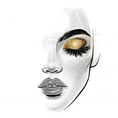 Makeup Illustration, Cute Illustration, Lash Quotes, Cartoon Girl Images, Fashion Art, Face Fashion, Decoupage Vintage, Cute Cartoon Wallpapers, Woman Face