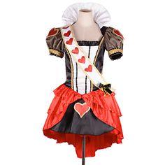 wunderschönen roten Herzen Königin Satin&Chiffon Cosplay 2015 – €37.99