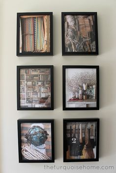 How to Create a Budget-Friendly Art Gallery. could go to half price books to find books with cool pictures to frame.