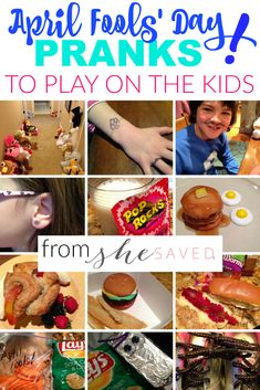 April Fools Day Tricks to Play on Your Kids from She Saved. Have some fun this year with your kids with these April Fools' Day Tricks. Kids April Fools Pranks, April Fools Tricks, April Fools Day Jokes, Best April Fools, Pranks To Pull, Good Pranks, Funny Pranks, Jokes For Kids, Easy Pranks For Kids