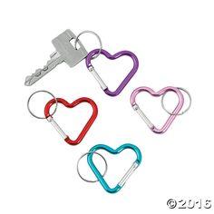 Heart Clip Key Chain Assortment - OrientalTrading.com