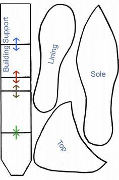 Printable High Heel Shoe Template | Fondant high heel shoe template.