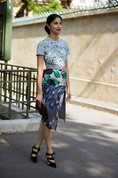 Caroline Issa - Michael Van Der Ham dress, Paris Fashion Week.