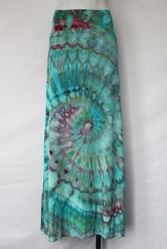 07290a328f2 Tie dye Maxi Skirt - size XL - ice dye - Cotton Candy twist