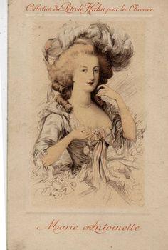Marie Antoinette vintage postcard