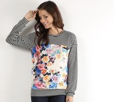 Floral Stripe Long S