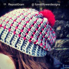 forestflowerdesigns crochet hat
