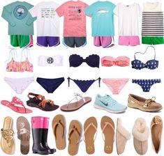 Preppy summer wardrobe