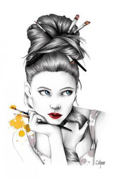 La Demoiselle aux Pinceaux. Love this. TG