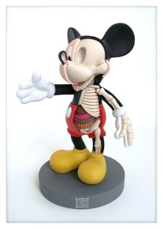 [#Disney Mickey Mouse  #Anatomical Sculpture by Jason #Freeny]