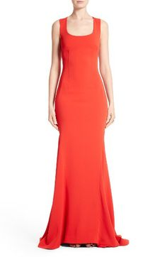 St. John Collection St. John Collection Stretch Cady Cross Back Gown available at #Nordstrom