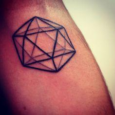 Icosahedron, Tattoo, geometric, line, black, arm, icosaedro, tatuaggio, geometria, sacra, solido, platonico, linee