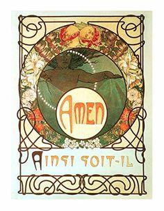 Artdash® Brand Premium ART NOUVEAU Reproduction: A Single Page from A.Mucha's 1899 'LePater' Art Nouveau http://www.amazon.com/dp/B00TRAZY6Y/ref=cm_sw_r_pi_dp_CFH5ub0ZB8QKG