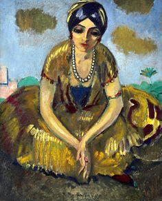 Kees van Dongen (1877-1968) Egyptienne au collier de perles  ~Repinned Via Annie Meza