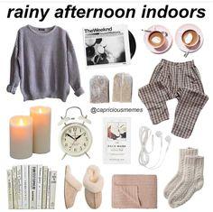 rainy afternoon indoors
