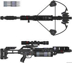 crossbow+van+helsing+futuristic+weapon+laser+blaster+cross+bow+automatic+shotgun.jpg (1600×1408)