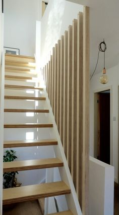 42 Inspiring Loft Stair Design Ideas For Space Saving. Loft conversion stairs are an integral part of any conversion project so in this article we'll look at some of the specific building regulation. Loft Staircase, Staircase Railings, Modern Staircase, Banisters, House Stairs, Staircase Design, Stairways, Stair Design, Spiral Staircases
