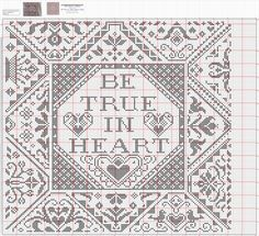 """Be True in Heart"" • Chart only"