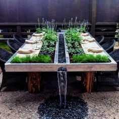 most amazing garden table ever! most amazing garden table ever! In modern cities, it is virtually impossible to sit down inside of a house with an out. Patio Design, Exterior Design, Garden Design, House Design, Backyard Patio, Backyard Landscaping, Outdoor Furniture Sets, Outdoor Decor, Outdoor Living