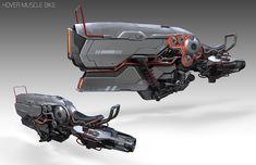 Hover Muscle Bike by Bryant Koshu on Artstation Spaceship Art, Spaceship Concept, Concept Ships, Concept Cars, Rpg Star Wars, Star Wars Art, Futuristic Motorcycle, Futuristic Cars, Cyberpunk
