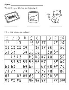 Worksheets Fill Missing Spaces With Numbers 1 -9 1000 images about skip counting ten frames tallies missing number quantity disc on pinterest and by