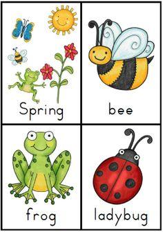 Making and Writing Spring Sentences for Kindergarten {vocab & sentence work} http://www.teacherspayteachers.com/Product/Making-and-Writing-Spring-Sentences-for-Kindergarten-vocab-sentence-work-1106807
