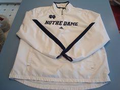 Adidas Climalite Notre Dame Fighting Irish Football 1/4 Zip Jacket Pullover XL  #adidas #NotreDameFightingIrish Notre Dame Football, Men's Football, Irish Fans, Fighting Irish, Adidas Men, Adidas Jacket, Golf, Pullover, Zip