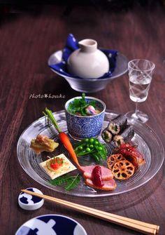 「冷やし茶碗蒸しの前菜」 #花ヲツマミニ