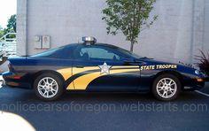 Oregon state police car