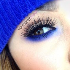 The lashes are a bit to much for me but it looks pretty.