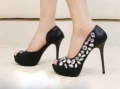 black with shiny ornaments heels @ http://trendy-stilettoheels.blogspot.com